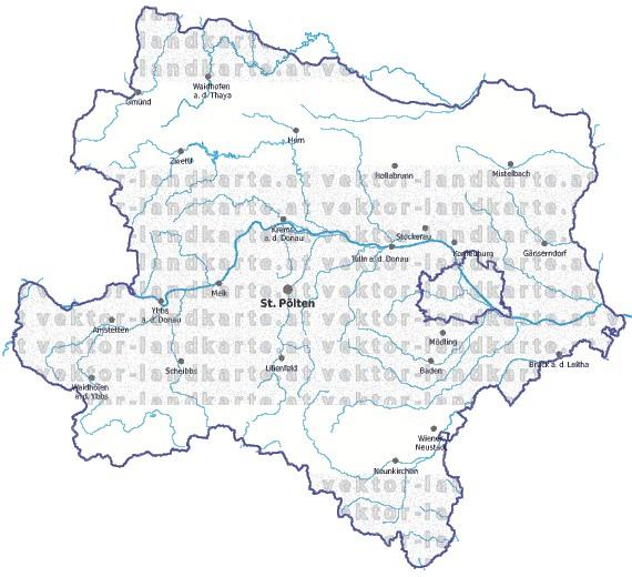 Steiermark Karte Flüsse.Niederoesterreich Landkarte Gemeindekarte Gewaesser