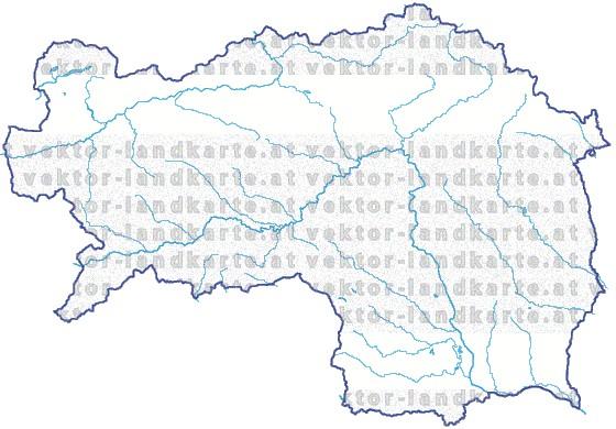 Steiermark Karte Flüsse.Steiermark Landkarte Gewaesser